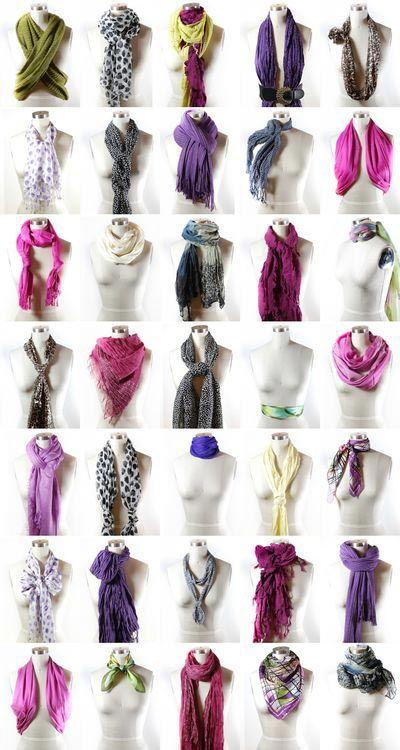 Як красиво зав'язати шарф на шиї і голові