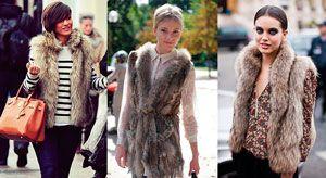 Як носити хутряну жилетку взимку