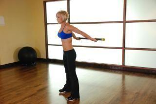 Комплекс тренувань з гімнастичною палицею