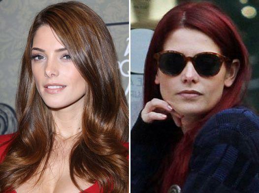 Червона фурія: ешлі грін змінила колір волосся