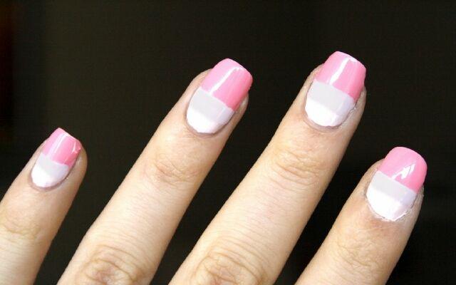 Манікюр з двох кольорів: колористика на нігтях