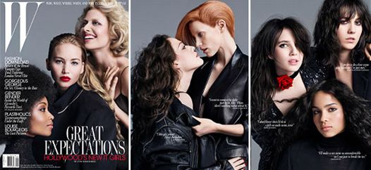 Покоління сміливих актрис в журналі w